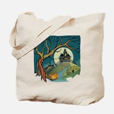 Spooky Haunted House Tote Bag