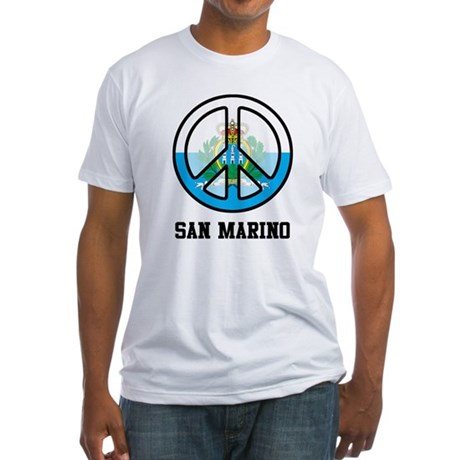 Peace In San Marino Fitted T-Shirt