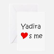 Cool Yadira Greeting Card