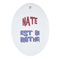 Nate - Best Big Brother Oval Ornament