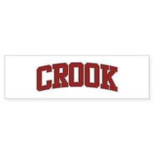 CROOK Design Bumper Bumper Sticker