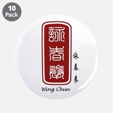 "Wing Chun 3.5"" Button (10 pack)"