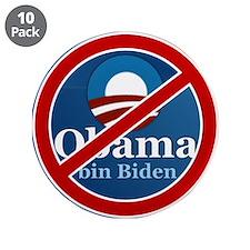 "No BO bin Biden 3.5"" Button (10 pack)"
