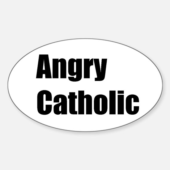 TheAngryCatholic Oval Decal
