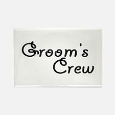 Groom's Crew Rectangle Magnet
