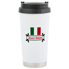 Italian Buon Natale Ceramic Travel Mug