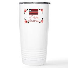 Liberia Happy Christmas Travel Mug