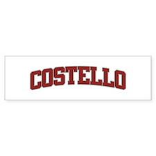 COSTELLO Design Bumper Bumper Sticker