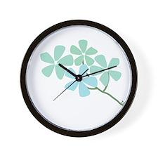 Winter Flower Blossom Wall Clock