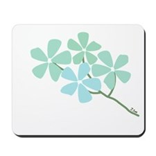 Winter Flower Blossom Mousepad