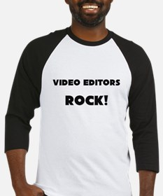 Video Editors ROCK Baseball Jersey