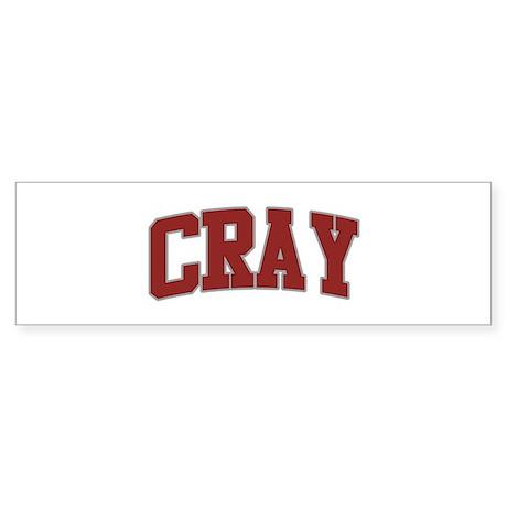CRAY Design Bumper Sticker