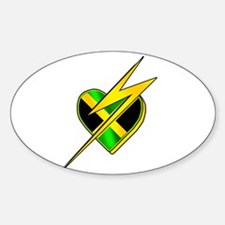 Jamaica Lightning Bolt Decal