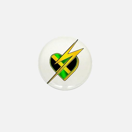 Jamaica Lightning Bolt Mini Button
