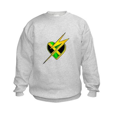 Jamaica Lightning Bolt Kids Sweatshirt