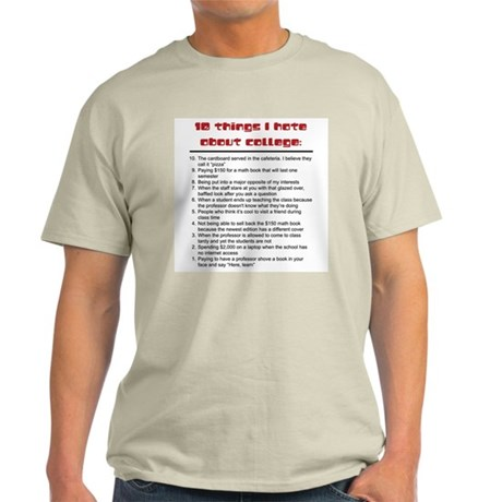 10 Things I Hate about College Ash Grey T-Shirt