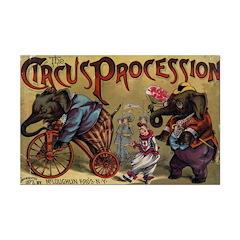 Vintage Circus Procession 1888 Poster Print