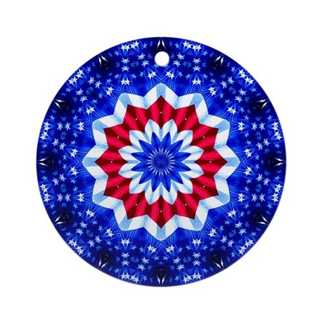 Folds of the Flag Ornament (Round)