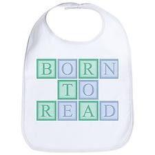 Born to Read Green Bib