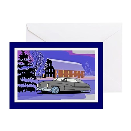 Scenic Lead Sled Christmas Greeting Cards (Pk of 1