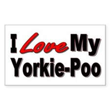 I Love My Yorkie-Poo Rectangle Bumper Stickers