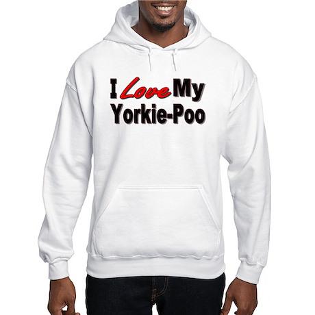 I Love My Yorkie-Poo Hooded Sweatshirt