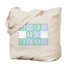 Born to Read Green Tote Bag