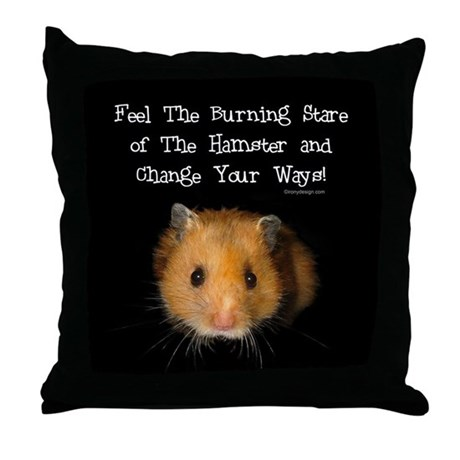 The Hamster Throw Pillow