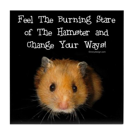 The Hamster Tile Coaster