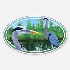 Great Blue Heron Bumper Oval Decal