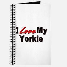 I Love My Yorkie Journal