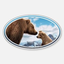 Grizzly Bears Bumper Oval Decal