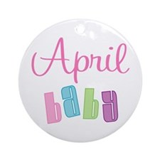 April Baby Ornament (Round)