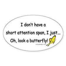 Attention Span Butterfly Decal