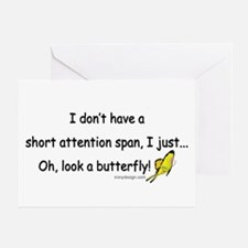 Attention Span Butterfly Greeting Card