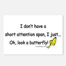 Attention Span Butterfly Postcards (Package of 8)