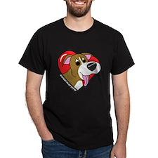 Cartoon Pit Bull Love Dark TShirt