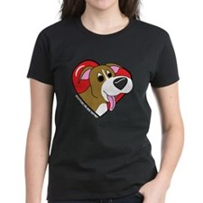 Cartoon Pit Bull Love Tee