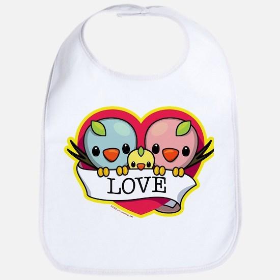 Family Love Birds Bib