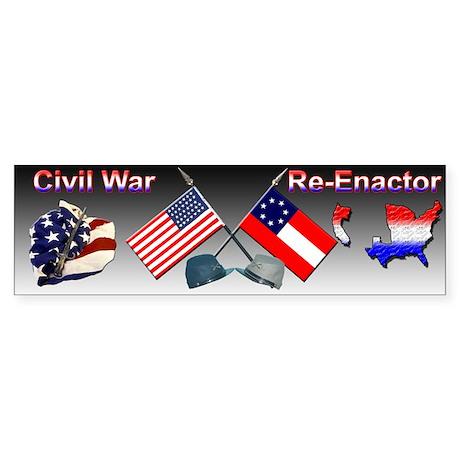 Civil War Reenactor Bumper Sticker
