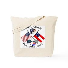Civil War Re-enactors Tote Bag