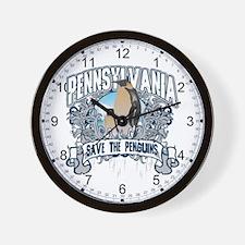 Save the Penguin Pennsylvania Wall Clock