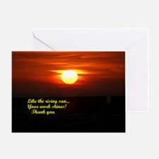 Sunrise Employee Recognition Greeting Card