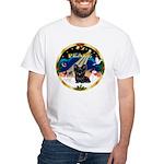 XmasSunrise/ Skye Terrier White T-Shirt