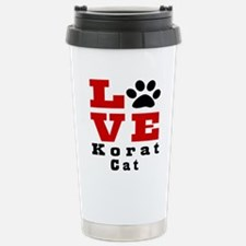 Love korat Cat Travel Mug