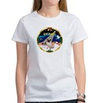 XmasSunrise/Pug Women's T-Shirt