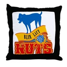 Blue Lacy Throw Pillow