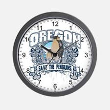 Save the Penguin Oregon Wall Clock