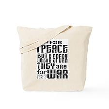 Psalm 120 Tote Bag