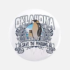 "Save the Penguin Oklahoma 3.5"" Button"